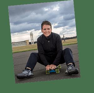 Über mich - aufm Skateboard
