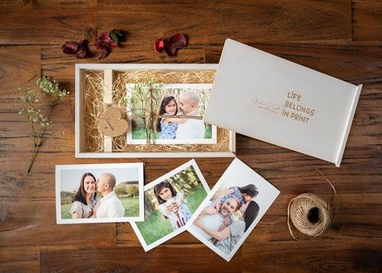 Foto-Holzbox als tolle Geschenkidee mit Fotos auf Fineart-Papier