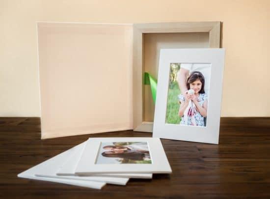 Folio-Fotobox mit Geschenkbox